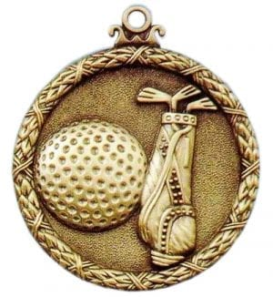 Antique golf medal