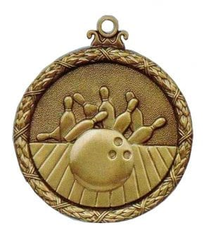 Antique tenpin bowling medal